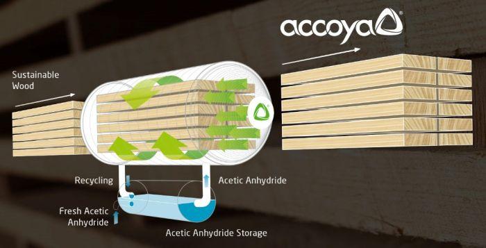 Il processo chimico dell'acetilazione che modifica la struttura legno