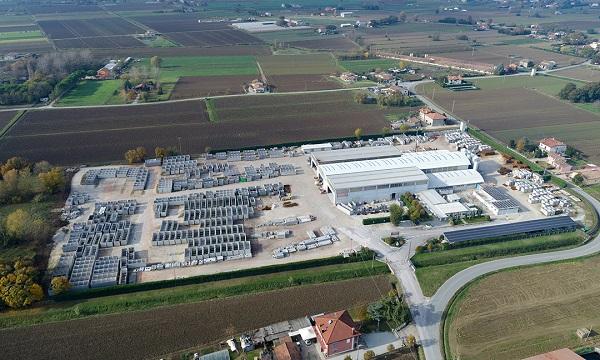 Vista aerea dello stabilimento Gazebo
