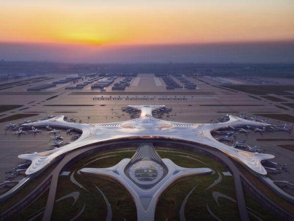 In Cina il terminal dell'aeroporto che sembra un fiocco di neve