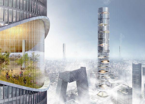 Progetto AIRSCRAPER 2° classificato all'eVolo Skyscraper Competition 2019