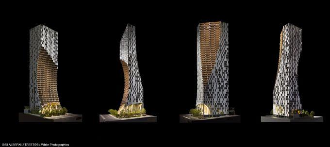Alberni a Vancouver, Un grattacielo scolpito con prospettive diverse