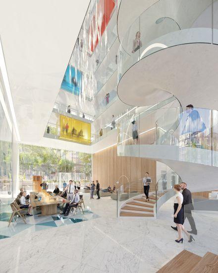 Allianz Milano: La hall di ingresso