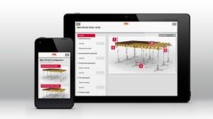 Le diverse app PERI offrono un rapido e valido sostegno alle operazioni quotidiane di costruzione in cantiere. Ne è un esempio il dispositivo di configurazione MULTIFLEX, che consente di ottimizzare l'impiego del sistema di cassaforma a travi per solai.