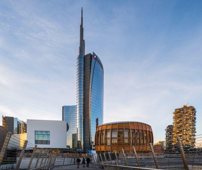 Piazza gae aulenti a Milano
