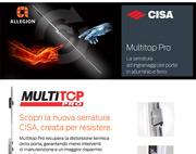 Serratura CISA Multitop Pro, creata per resistere