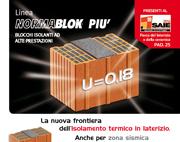 Linea Normablok Più – blocchi isolanti ad alte prestazioni