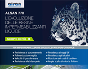 Resina liquida Alsan 770. Le più elevate performance impermeabilizzanti
