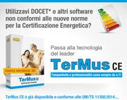 Certificazione Energetica: passa a TerMus CE… è già conforme e disponibile!