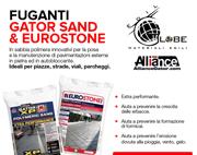 Fuganti per pavimentazioni esterne Gator Sand & Eurostone di Edil Globe