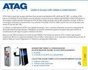 ATAG, leader in Europa nelle caldaie a condensazione
