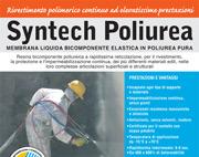 Syntech Poliurea: membrana liquida, bicomponente, elastica, in poliurea pura vaporizzata a caldo