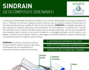 Geocompositi drenanti SINDRAIN – Sineco International