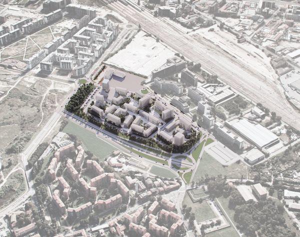 Render del complesso di social-housing Redo, a Milano Santa Giulia