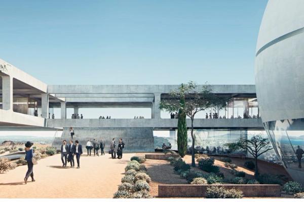 L'ambiente naturale sarà parte integrante del progetto: giardini e aree verdi percorreranno tutta la struttura.