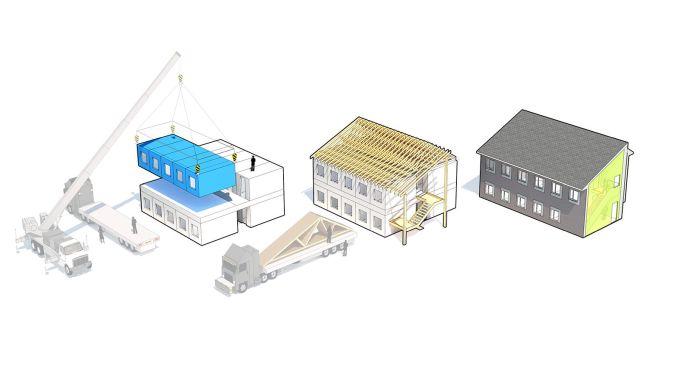 Unità modulari offsite per gli alloggi di transizione  Argyle Gardens