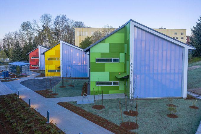 Argyle Gardens: i moduli prefabbricati e colorati per i senzatetto