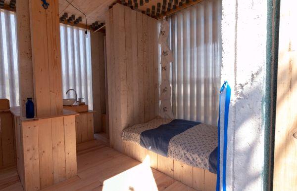 Interno di Armonia, Casa transitoria per i senzatetto inaugurata a Roma