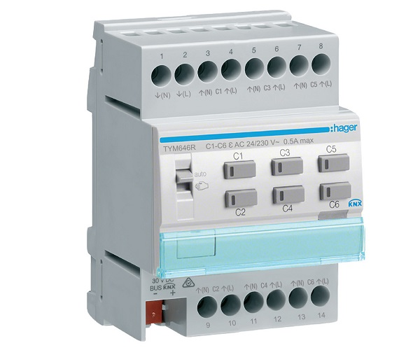 Attuatori KNX per controllo valvole HVAC