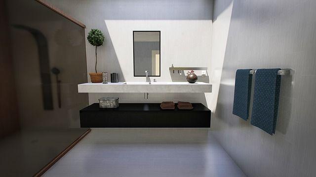Il bagno degli ospiti: piccolo e confortevole