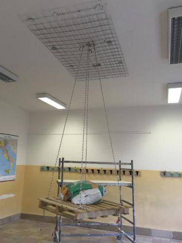 Sistema MasterProtect 100 di Basf per la messa in sicurezza dei solai di una scuola