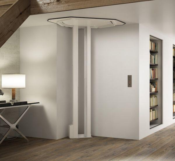 Il miniascensore Salise è discreto, si integra perfettamente in casa
