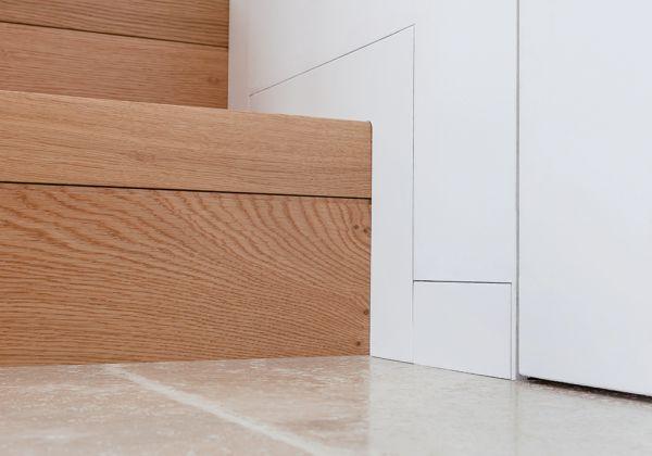 Battiscopa filo muro di Eclisse: una soluzione elegante e moderna che elimina le sporgenze