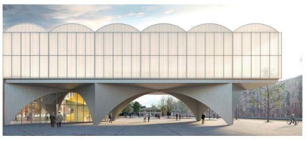 Superfici trasparenti e cupole per la nuova biblioteca di Lorenteggio