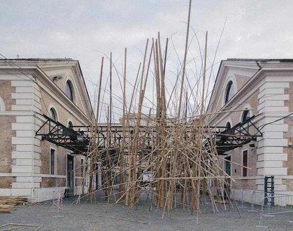Big Bambù, la struttura di canne di bambù alta 25 metri