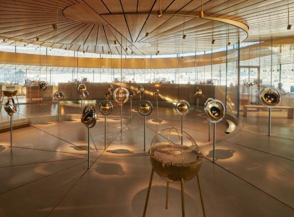 Interno del Museo-atelier di Audemars Piguet in Svizzera
