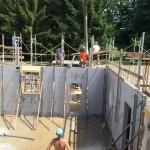 Involucro con sistemi modulari a casseri isolanti per un edificio residenziale