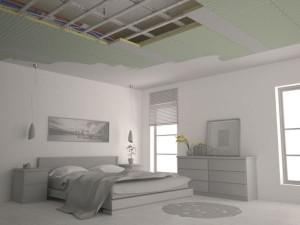 Sistema radiante a soffitto e parete b!klimax di RDZ 1