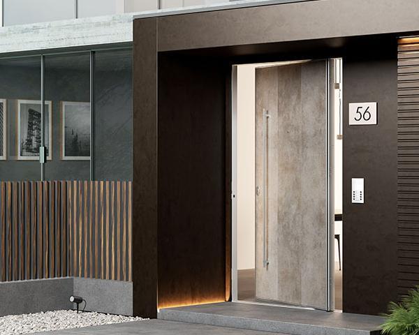 Di big porta blindata con apertura a bilico - Porta blindata esterno ...