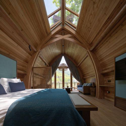 Le boat rooms galleggianti e l'uso di materiale naturale