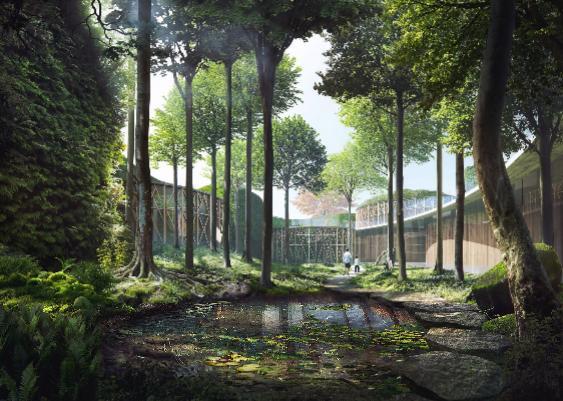 L'archistar giapponese ha dedicato molta cura nel definire gli ambienti paesaggistici in modo tale da ricreare il mood fiabesco dello scrittore danese.