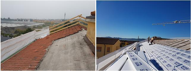 Isotec di Brianza Plastica per l'isolamento della copertura dell'ex ospedale di Thiene