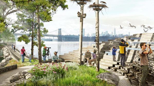 Nuova proposta per il lungomare di Brooklyn: punto di avvistamento avifauna