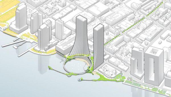Il masterplan del progetto per il lungomare di Brooklyn