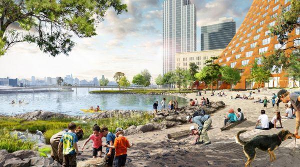 Spiagge sabbiose nella nuova proposta per il lungomare di Brooklyn
