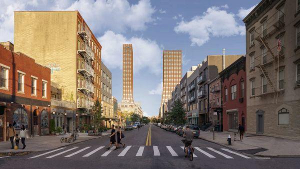 Nuova proposta per il lungomare di Brooklyn: le due torri uso misto