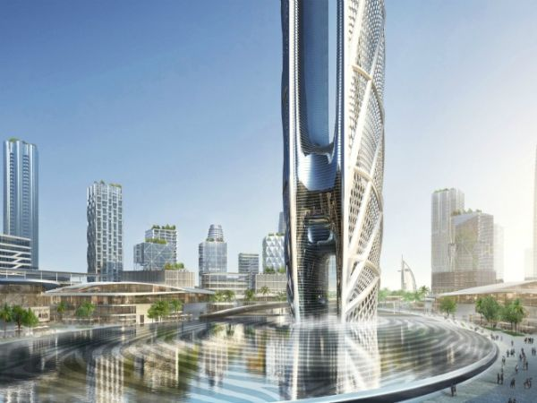 Display digitale sulla facciata Burj Jumeira a Dubai
