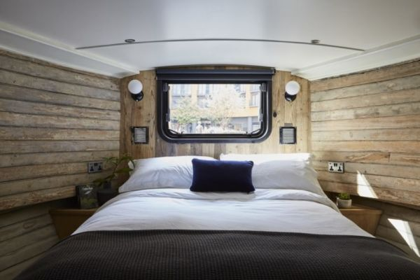 La camera da letto dell'albergo Boathouse London