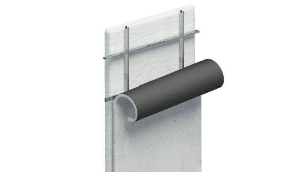 Nuovo progetto per un campo profughi che sistema del tubo metallico pieghevole di cutwork con la tecnologia del calcestruzzo arrotolabile