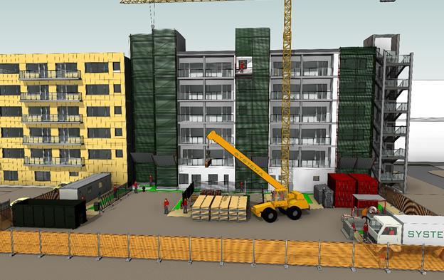 Individuazione accessi, percorsi di cantiere e spazi per la movimentazione dei materiali al piano.