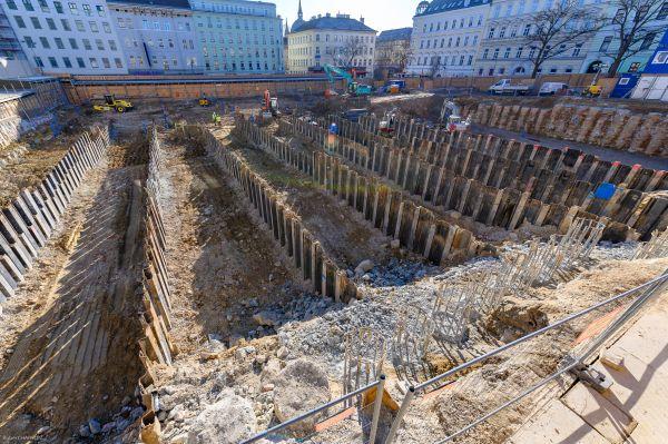 Il cantiere su cui sorgerà lo store Ikea a Vienna