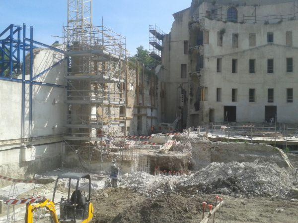 Il restauro del teatro Galli di Rimini ha richiesto una fase di scavi archeologici