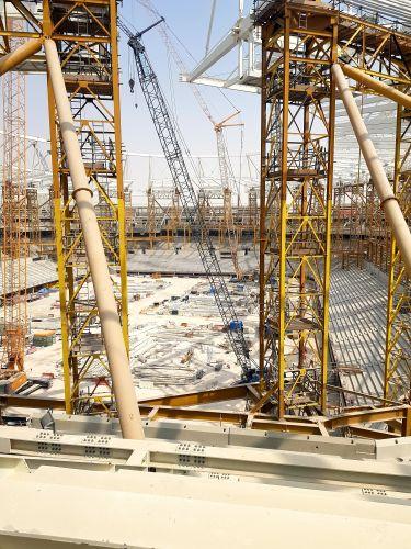Cantiere dello Stadio Rayyan a Doha