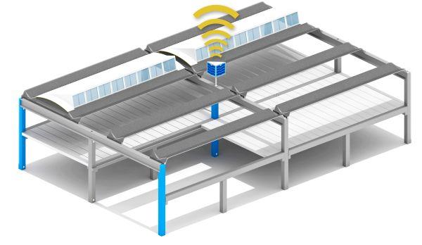 Sistema monitoraggio capannoni Manini Connect