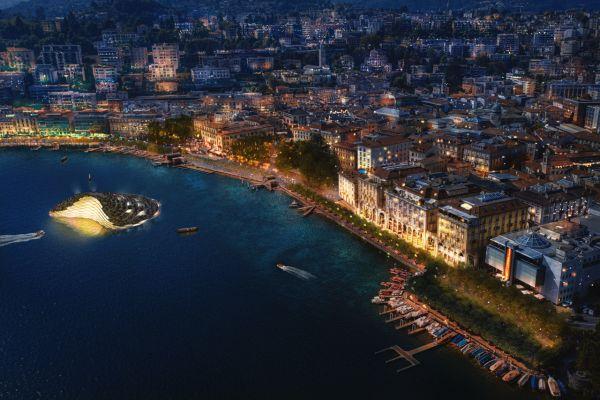 Lugano, il lungolago secondo carlo ratti associati