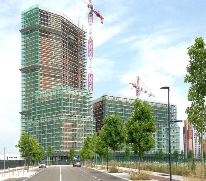 Cascina Merlata, Il complesso nella fase di costruzione