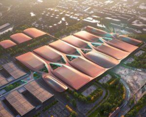 Il Centro fieristico internazionale di Pechino: una trama di linee geometriche